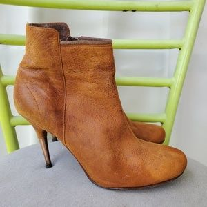 Diesel Firetip Leather Ankle Boots Booties